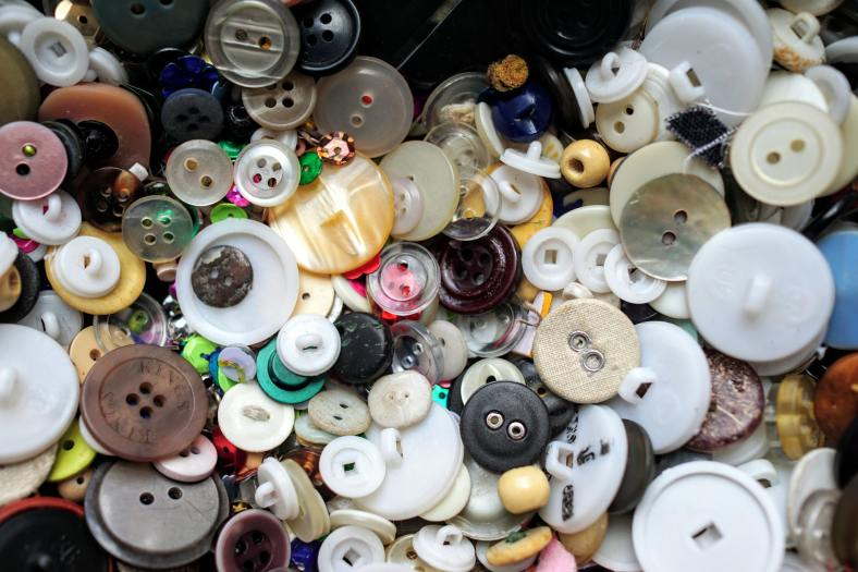 Picture of assorted clothing buttons