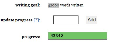 Screen shot of my word count